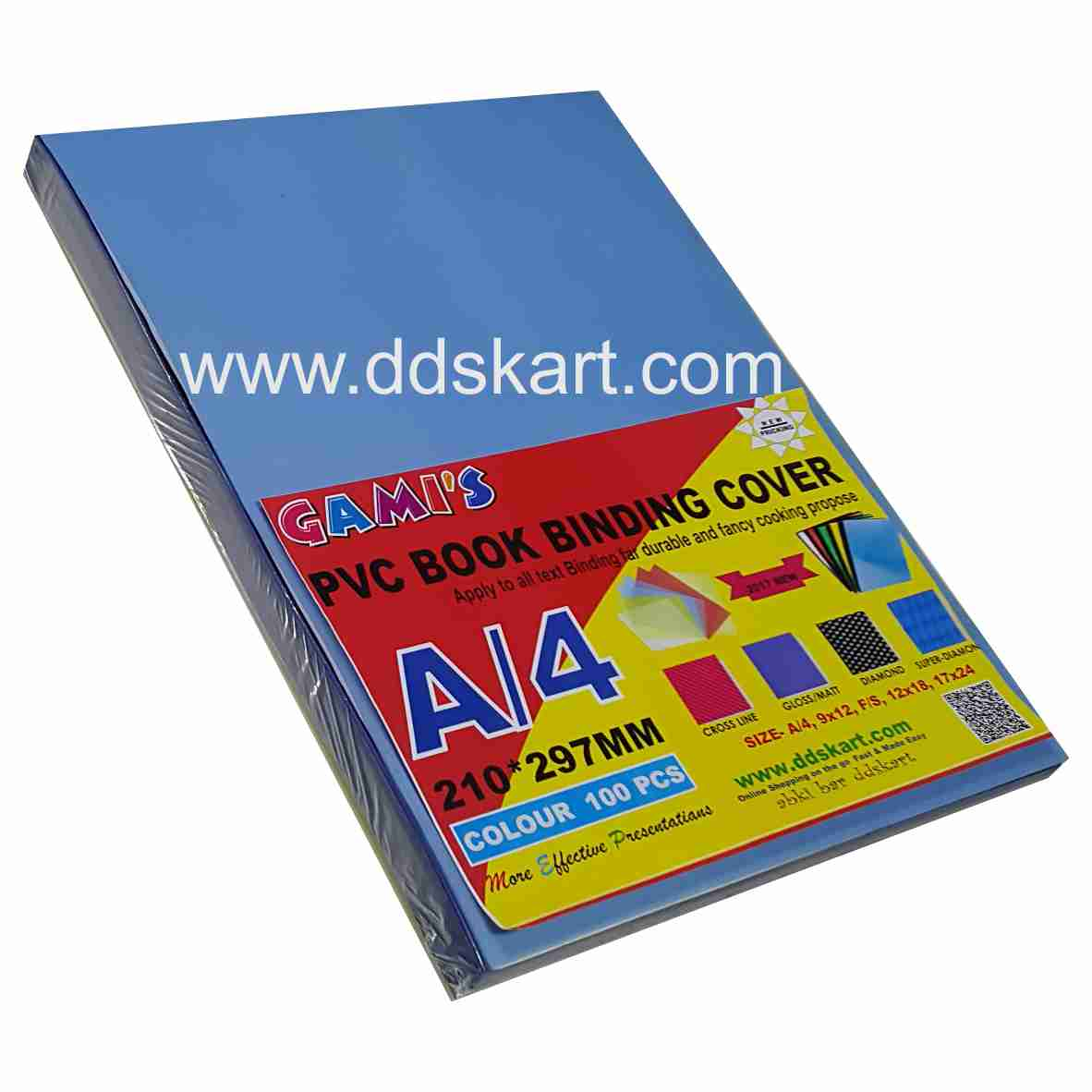 GAMI'S PVC Book Binding SHEET SAND MATTE  A4 ( BLUE TRANSPARENT)