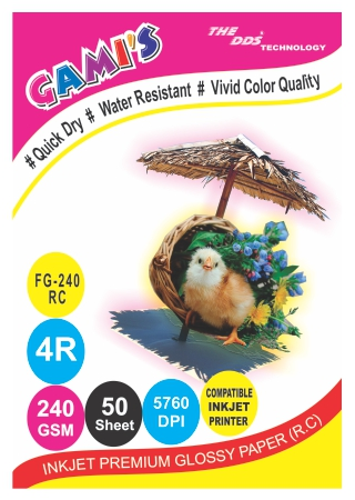 240gsm 4R RC Inkjet Photo Glossy Paper 4X6(100 sheets)